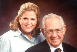 Wendy og faðir hennar sem lést árið 2002.