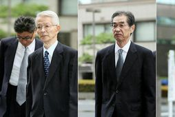 Frá vinstri: Tsunehisa Katsumata, Ichiro Takekuro og Sakae Muto.