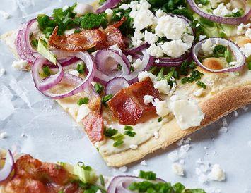 Holla útgáfan af ljúffengri pizzu.