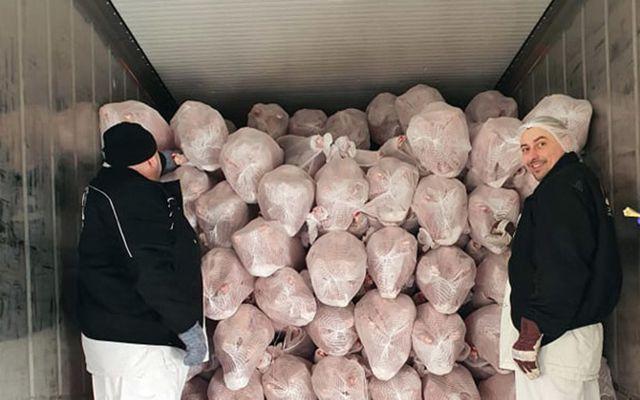 Í prufusendingunni voru einungis heilir lambaskrokkar, mest um 14-16kg.