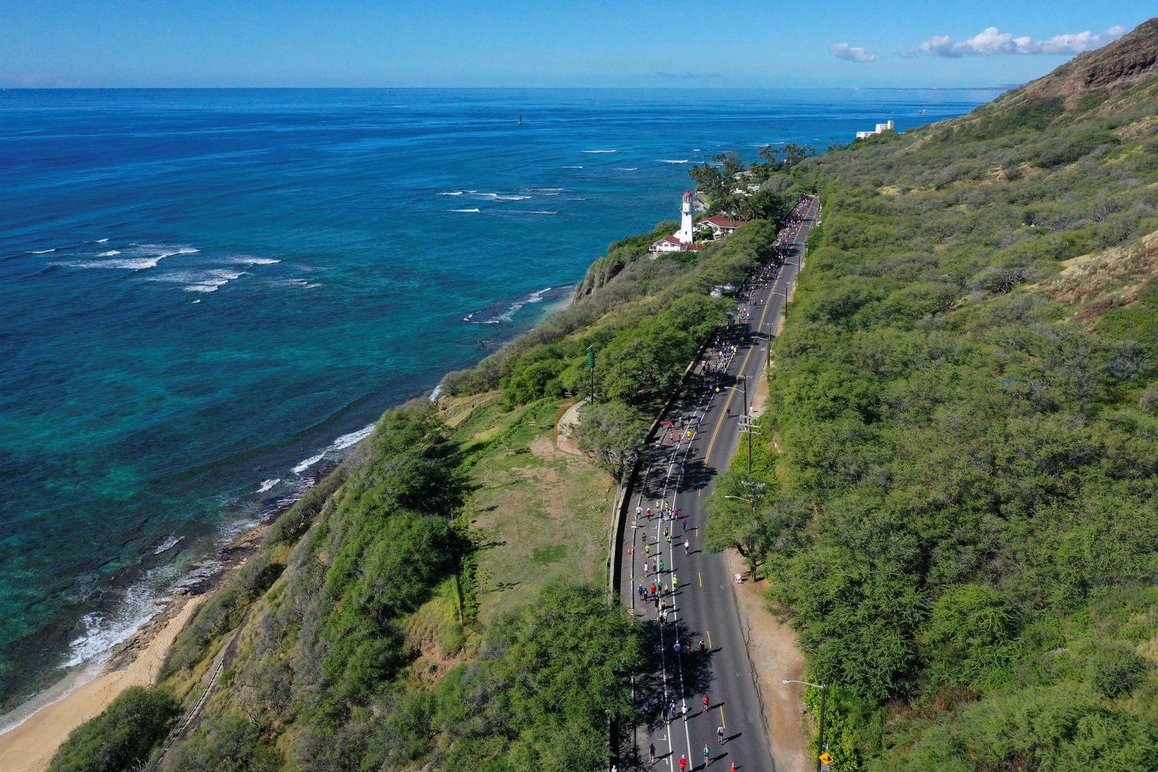 Flöskyskeytið fannst á strönd í Hawaii.