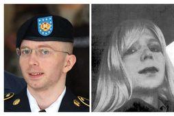 Chelsea Manning (t.h.) vill gangast undir kynleiðréttingaraðgerð. Hún var áður þekkt undir nafninu Bradley Manning …