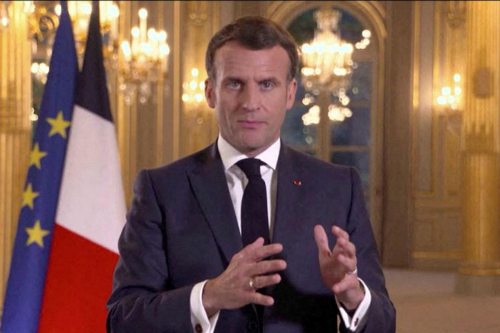 Emmanuel Macron forseti Frakklands.