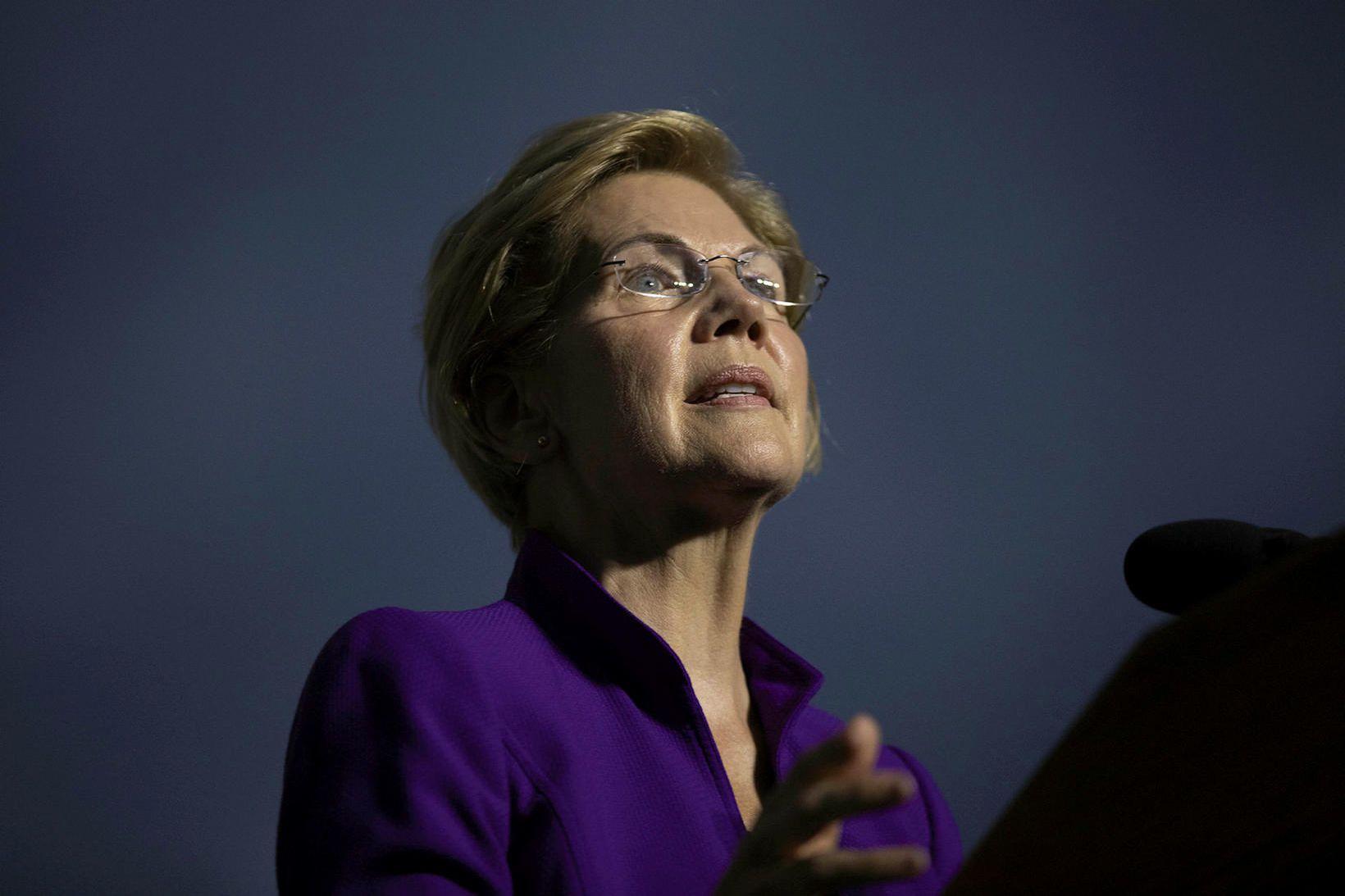 Bandaríski öldungadeildarþingmaðurinn Elizabeth Warren.