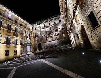 Höfuðstöðvar Monte dei Paschi di Siena. Bankinn var stofnaður 1472.