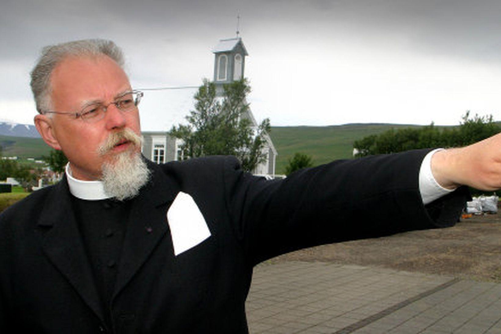 Sr. Geir Waage, prestur í Reykholti.