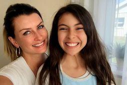 Linda og dóttir hennar.