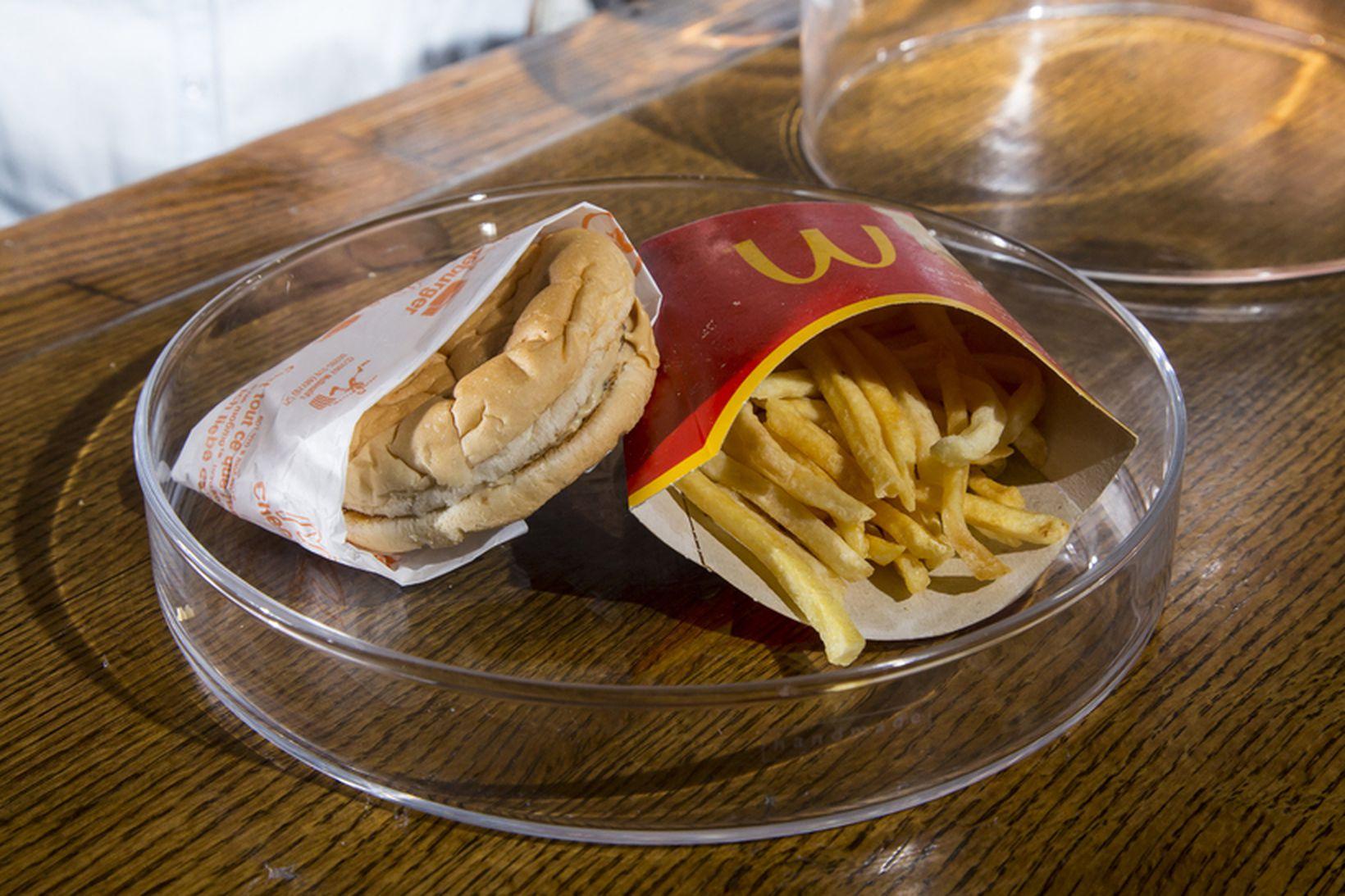 McDonald borgarinn mun vera í sama ástandi í dag og …