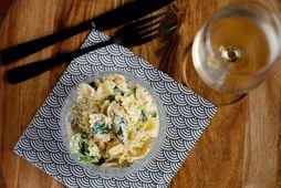 Grinilegt og fljótlegt pastasalat.