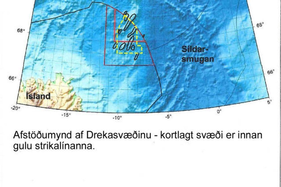 Mynd af Drekasvæðinu sem var kortlagt í júní