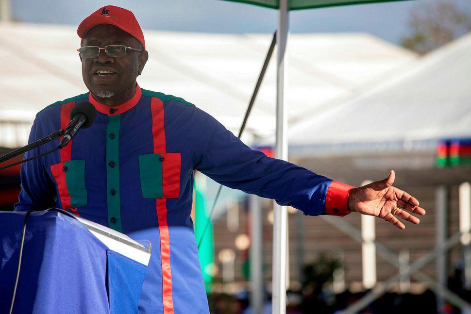 Hage Gottfried Geingob, forseti Namibíu og leiðtogi SWAPO.