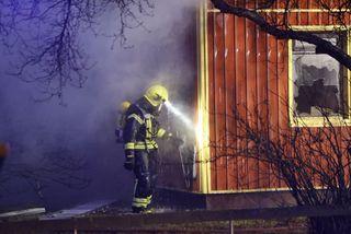 Bruni í einbýlishúsi á Selfossi 31. október.