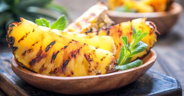 Grillaður ananas er sjúklega góður!