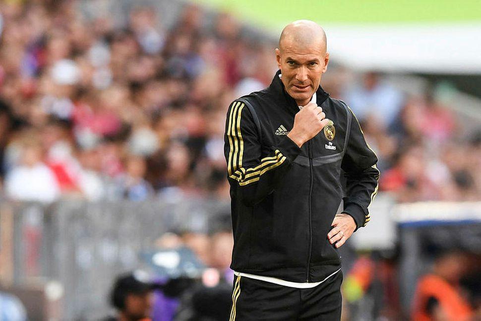 Zinedine Zidane þjálfari Real Madrid.