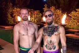 Gunnar Nelson og Conor McGregor eru miklir mátar.