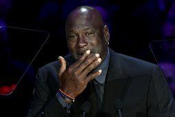 Tárvotur Michael Jordan í Los Angeles í gær.