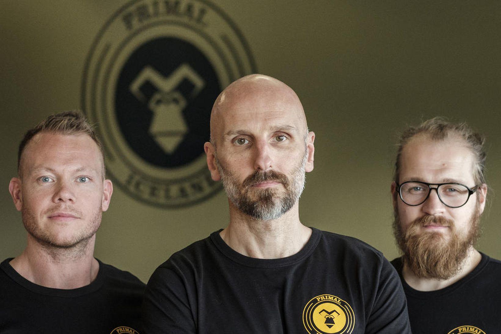 Einar Carl Axelsson, Þór Guðnason og Helgi Freyr Ragnarsson.