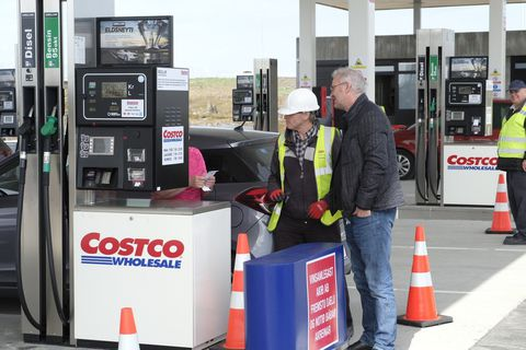 The litre of petrol at Costco goes for  169,9 Icelandic kronas.