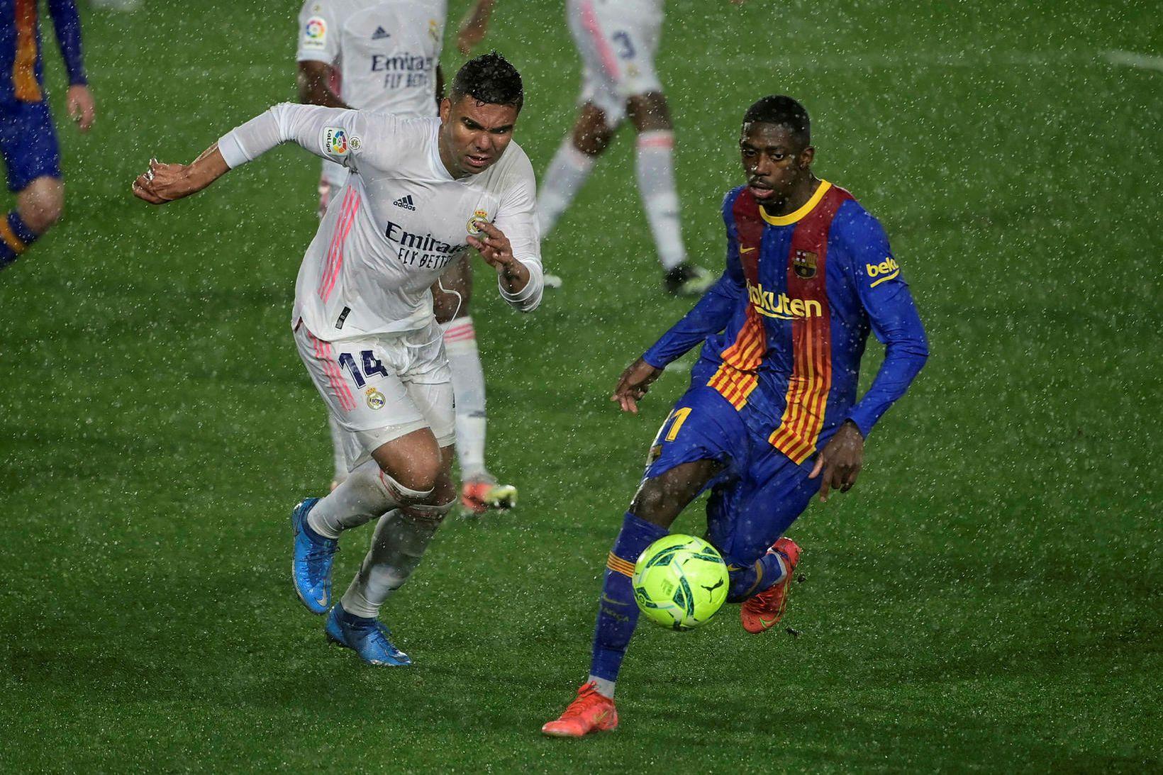 Real Madrid vann 2:1-sigur á Barcelona í kvöld.