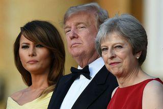 Melania Trump, Donald Trump og Theresa May.