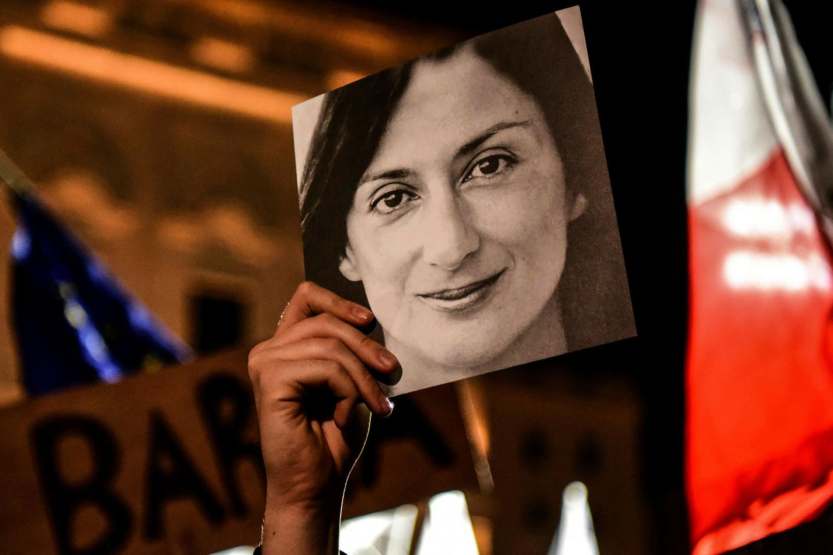 Blaðakonan Daphne Caruana Galiziavar myrt árið 2017.