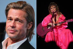 Brad Pitt og Shania Twain.