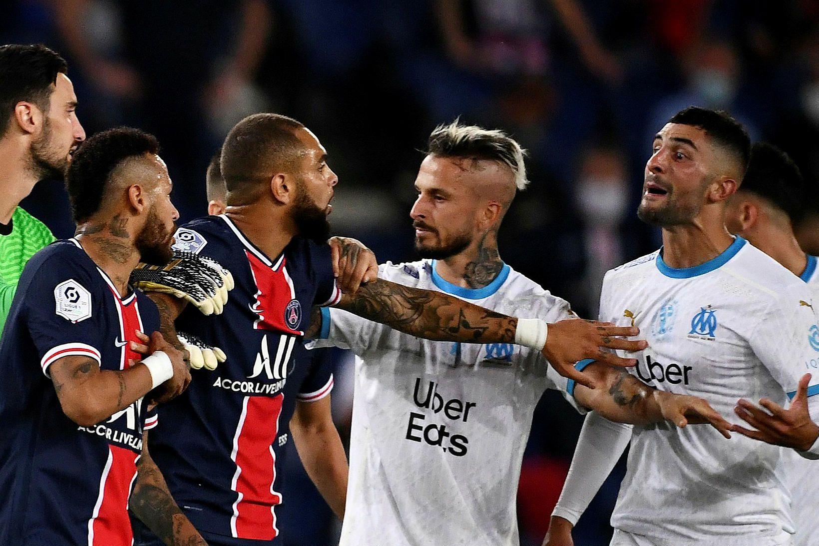 Það sauð allt upp úr í leik PSG og Marseille.