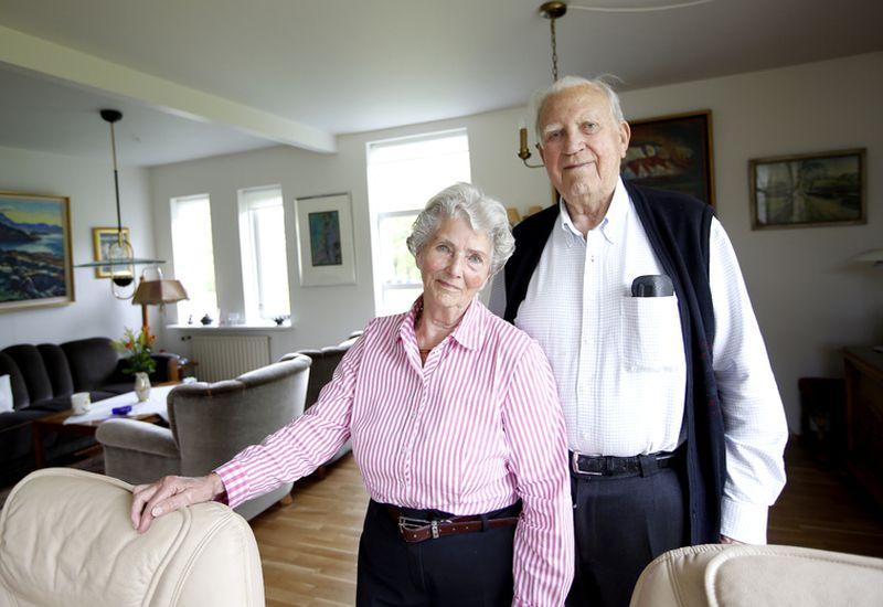 Dýrleif Hallgríms og Gunnar Ólafsson hve been married 75 years. The picture was taken five years ago.