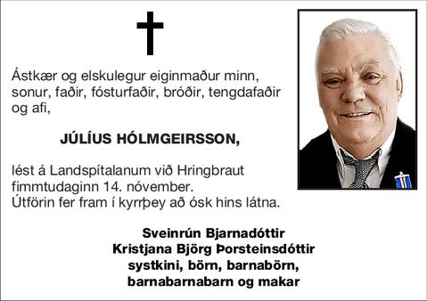 Júlíus Hólmgeirsson,