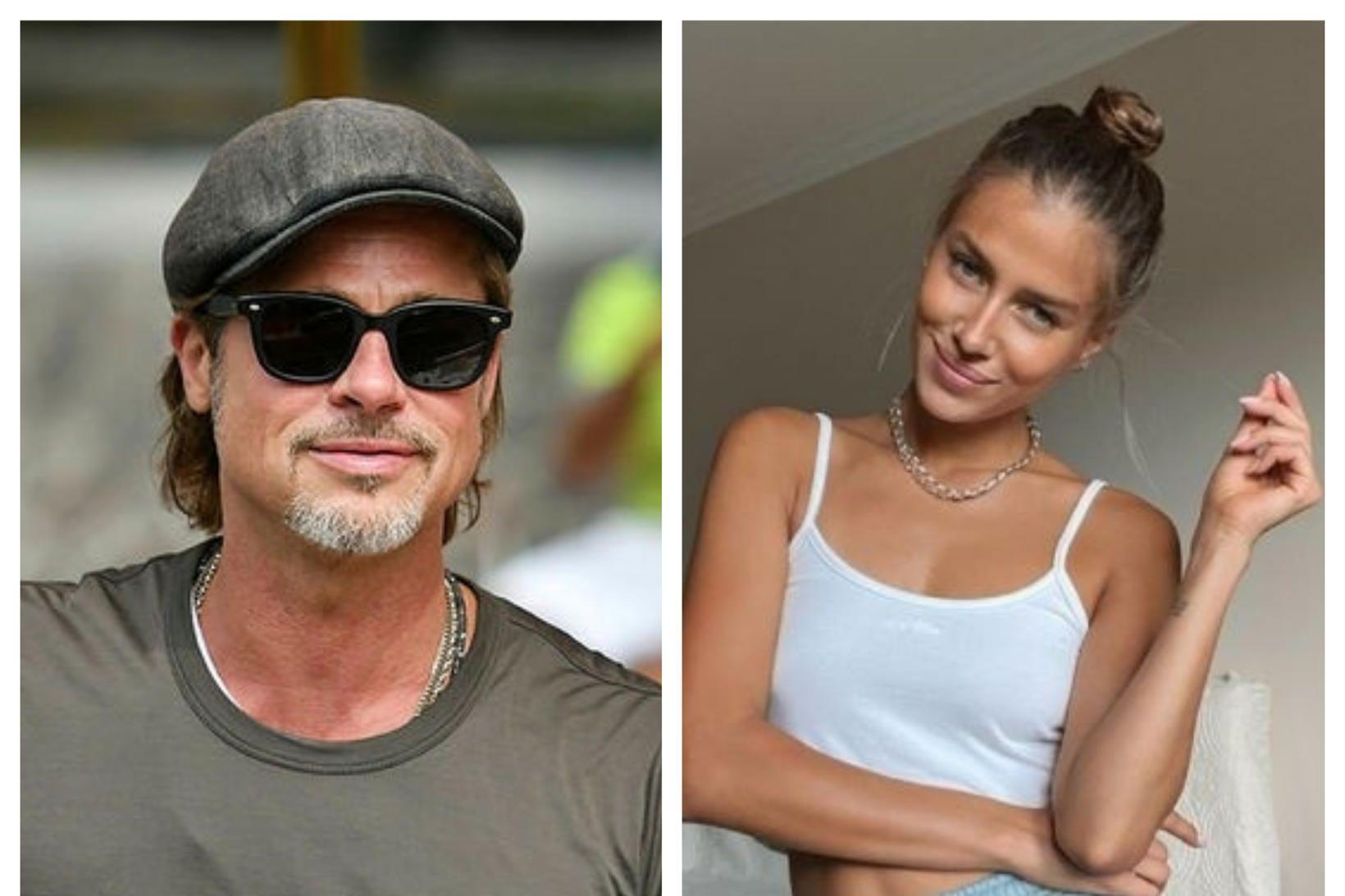 Brad Pitt á í sambandi við fyrirsætuna Nicole Poturalski.
