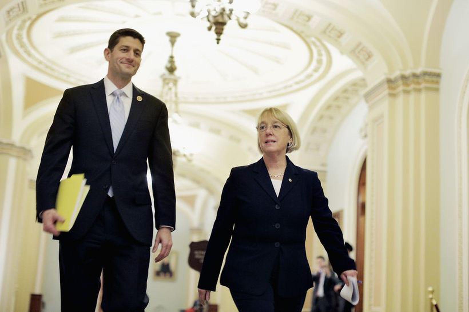 Paul Ryan og Patty Murray kynntu samkomulagið í dag.