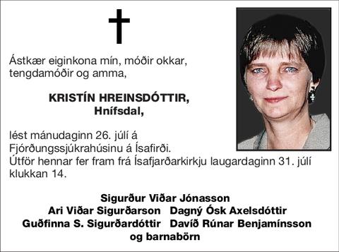 Kristín Hreinsdóttir,