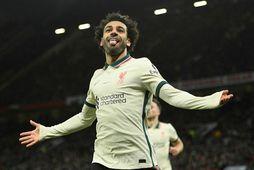 Mohamed Salah skoraði þrennu á Old Trafford um síðustu helgi.