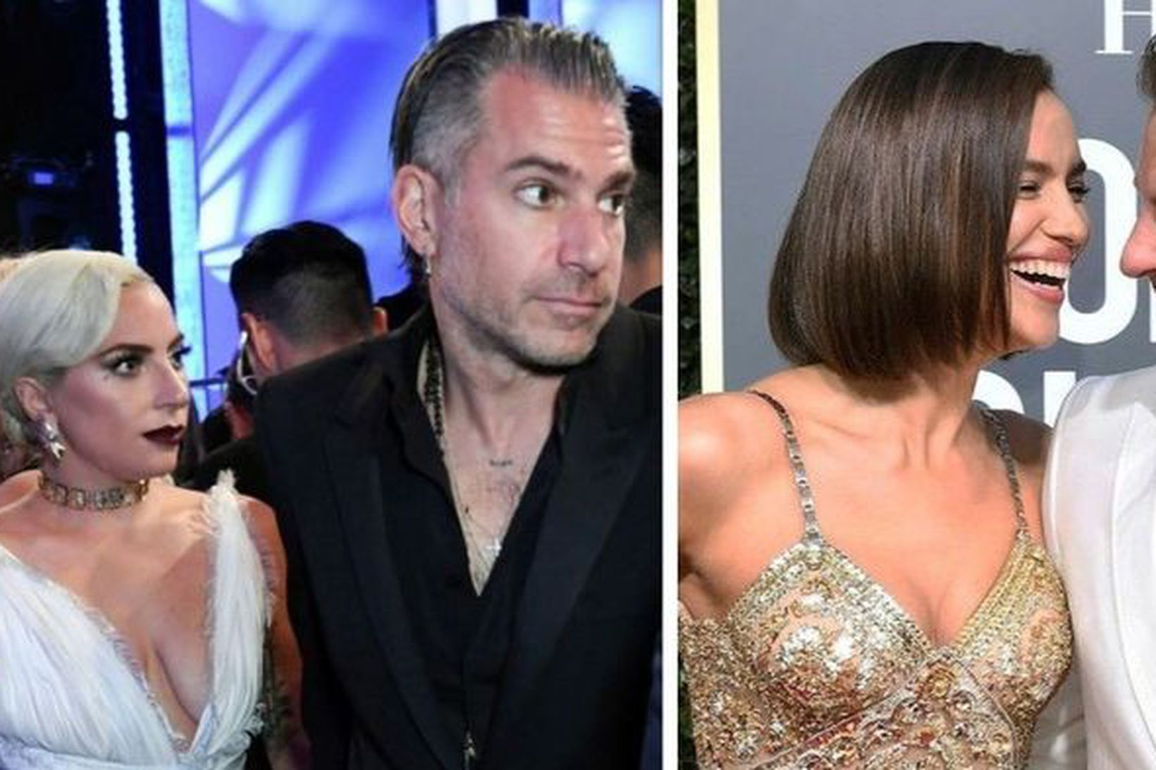 Lady Gaga, Christian Carino, Irina Shayk og Bradley Cooper.