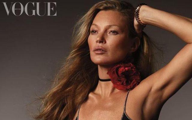 Kate Moss er á forsíðu breska Vogue.