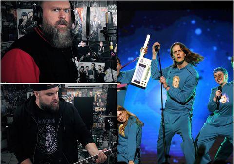 Flutningur Punk Rock Factory á Think About Things er heldur betur ólíkur upprunalegum flutningi Daða og gagnamagnsins.