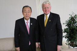 Ban Ki-moon og Ólafur Ragnar Grímsson.
