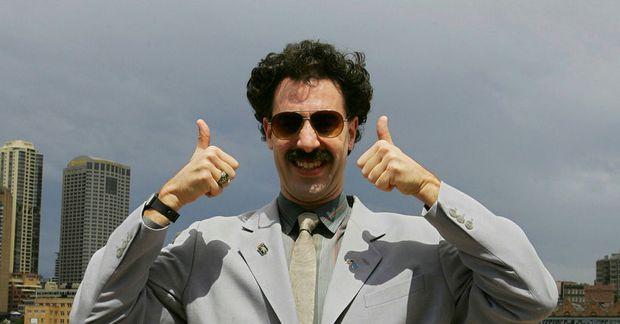 Kasakar hafa nú sæst við Borat og nýta hann í markaðssetningu.