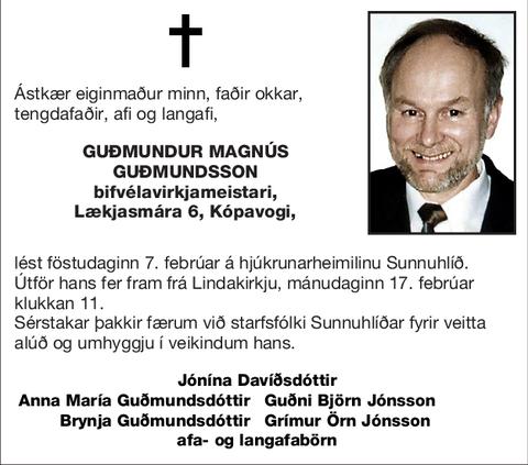Guðmundur Magnús Guðmundsson