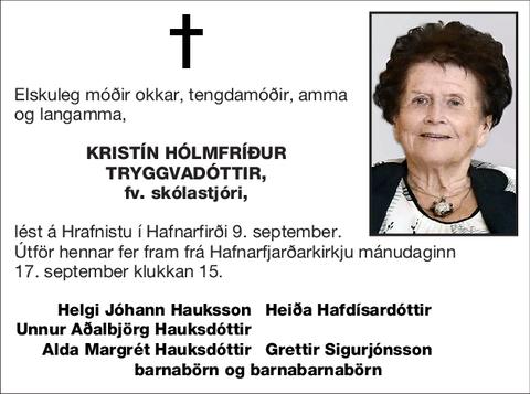 Kristín Hólmfríður Tryggvadóttir,
