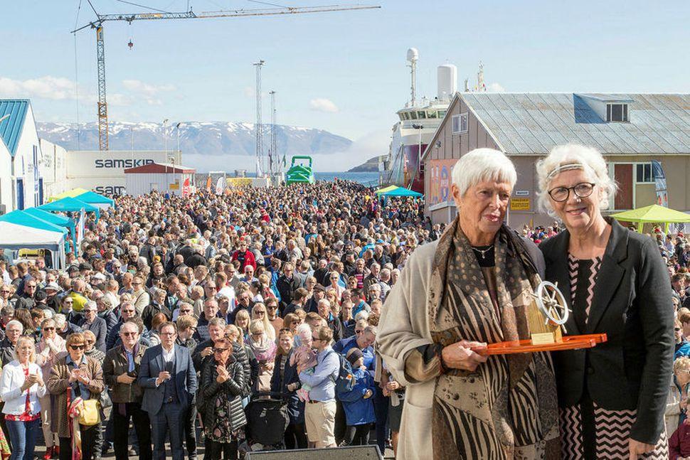 Aldrei hafa fleiri verið á fiskideginum mikla á Dalvík en ...