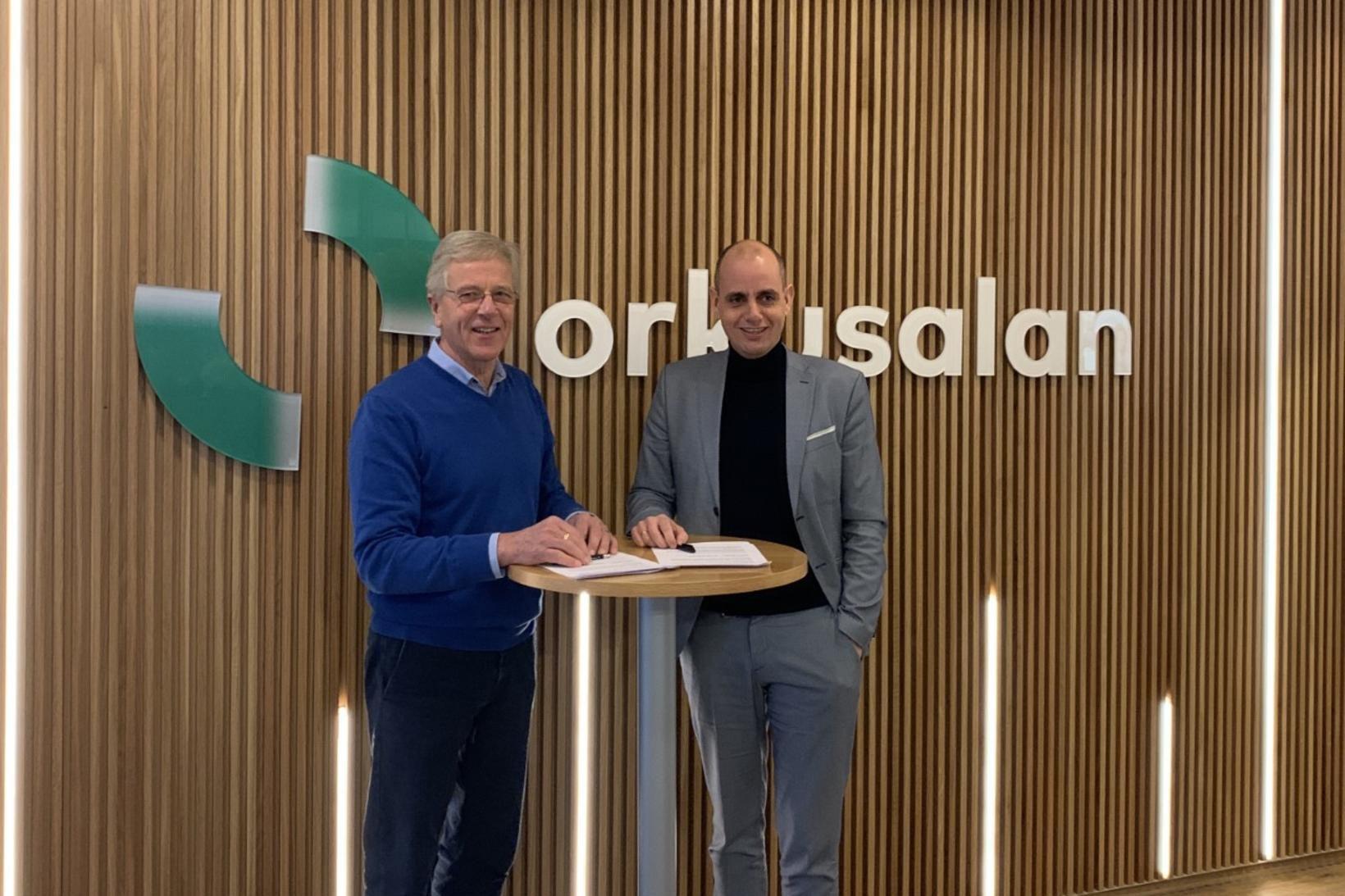 Reynir Kristinsson, stjórnarformaður Kolviðs, og Magnús Kristjánsson, framkvæmdastjóri Orkusölunnar.