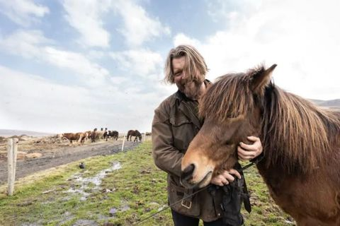 Horse farmer Hörður offers the highest Airbnb-rated recreational experience in Iceland.