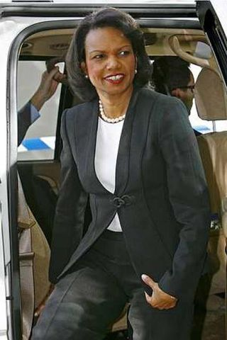 Condoleezza Rice sat í gær ráðstefnu um Írak í Stokkhólmi ...