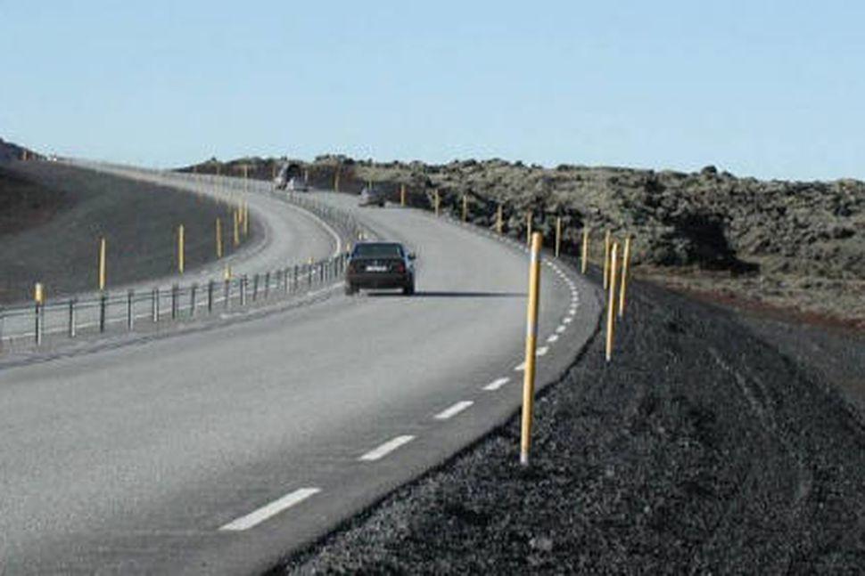 Suðurlandsvegur í Svínahrauni