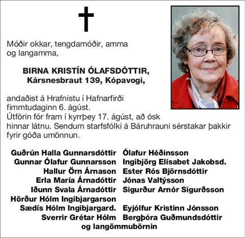 Birna Kristín Ólafsdóttir,
