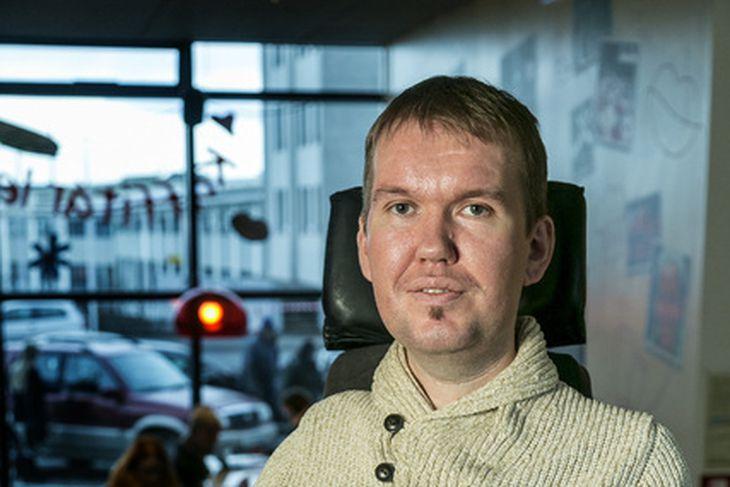 Hallgrímur Eymundsson er einn þeirra 14 sem eru með NPA-samning ...