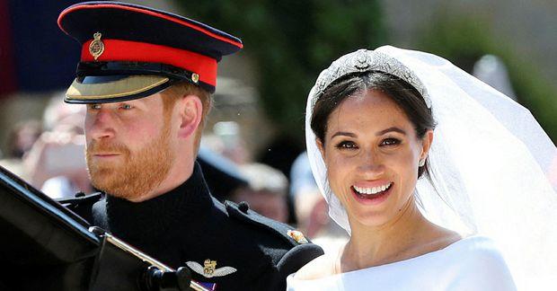 Harry og Meghan giftu sig árið 2018 en búa núna í Bandaríkjunum.