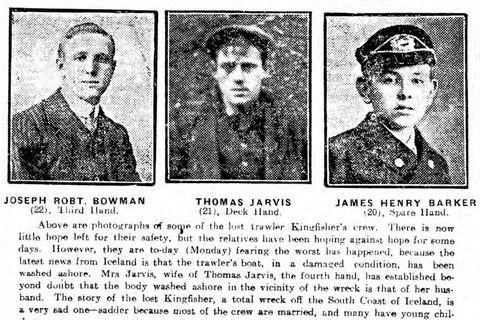 Thomas Jarvis is pictured in the center.