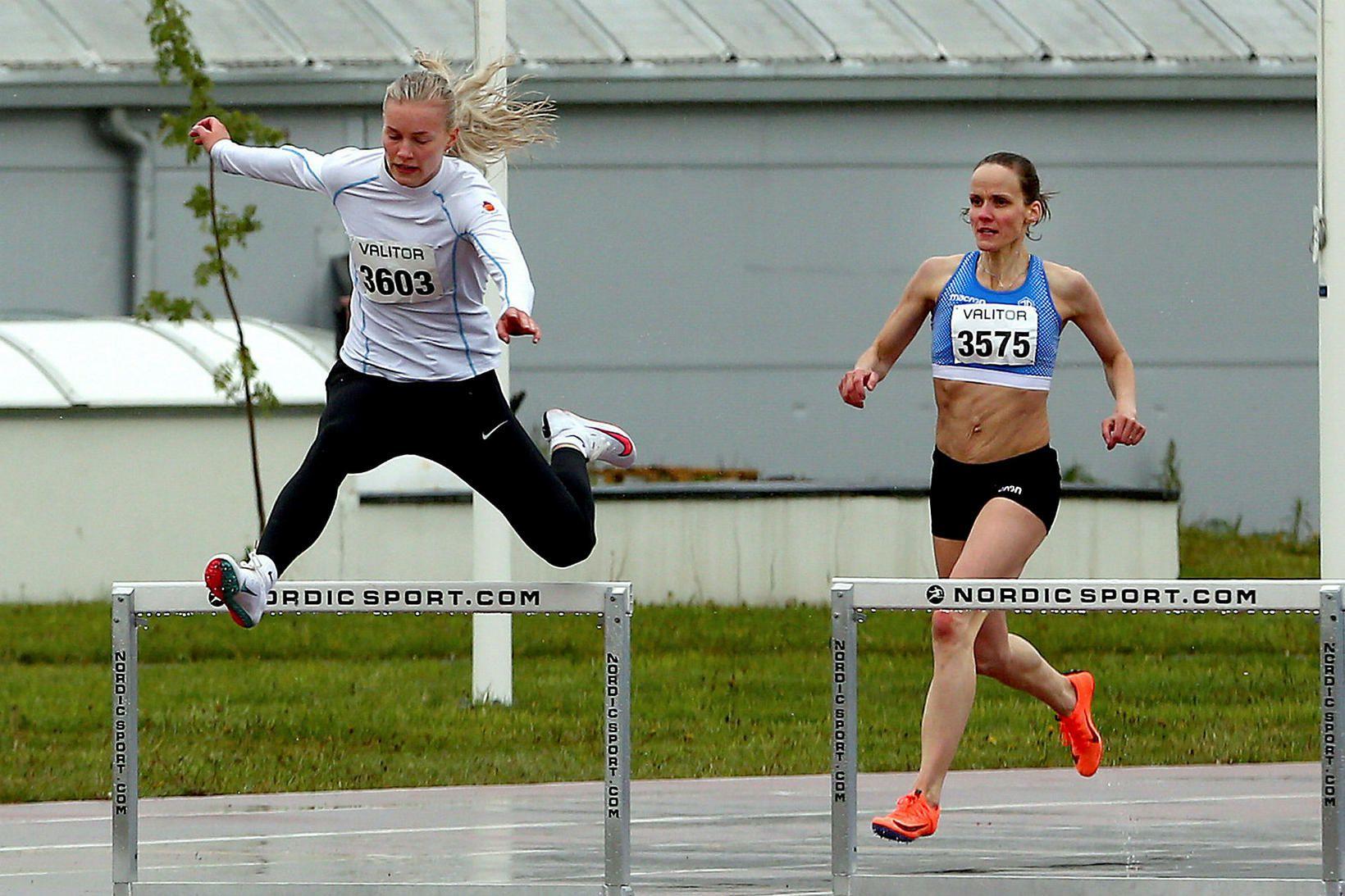 Glódís Edda Þuríðardóttir í 100 m grindahlaupinu á Meistaramóti Íslands …